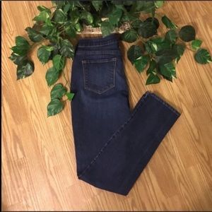 Old Navy Dark Wash Mid Rise Stretchy Jeans 8